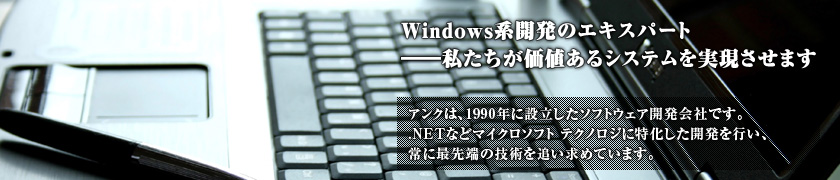 ������ЃA���N��Windows�J���̃G�L�X�p�[�g�ł�
